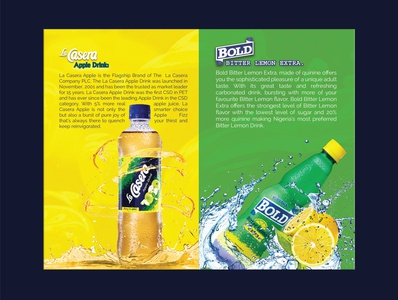 LA CASERA Promotion Brochure Page flyer drink brand identity brochure campaign design promotional design design business branding elegant corporate innovation idea clean creative