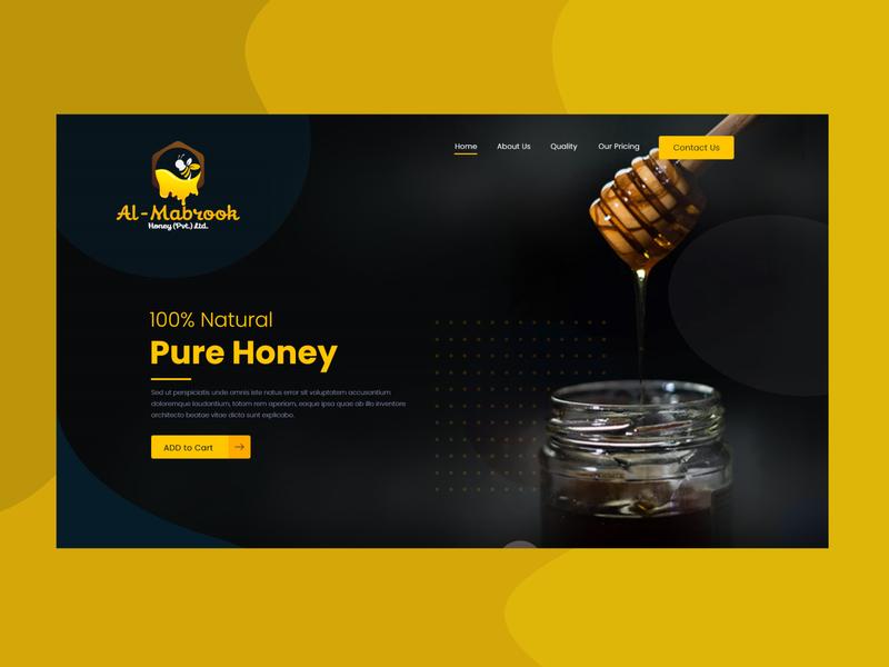 Honey 🐝 Bee web hive bee honey onepage landingpage visiontrust wordpress webdesign website heathy eco ui ux branding illustration logo idea design clean creative