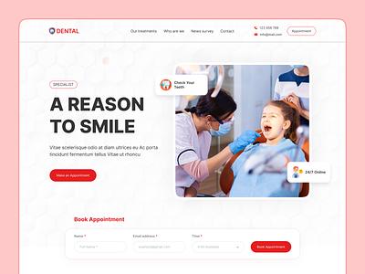 Dental Clinic Website Template Design dental treatment medical eye chatchy design