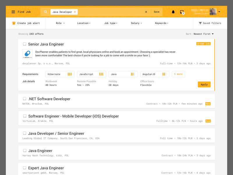 jobs list for it contractors by jakub michalski dribbble dribbble
