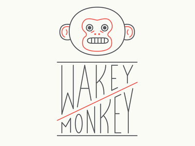 Monito lettering illustration logo design