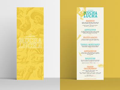 Mucha Lucha - Menu menu design restaurant branding restaurant brand design branding graphic design