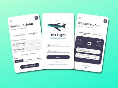 The Flight ux application design application app design mobile app design mobile design mobile app mobile ui ui design branding app