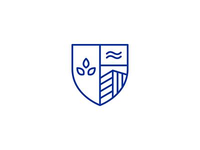 Real estate shield logotype heraldry shield coat of arms brand branding identity design graphic design logo
