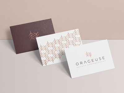 Orageuse — Brand Identity symbol sewing branding print business card stationery visual identity brand identity brand logotype logo graphic design