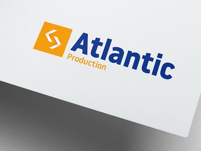 Atlantic Production freelance machine button arrow draft proposal industrial group brand identity logo logotype engineering industry