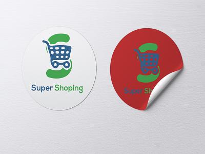 SHOPPING LOGO shopping flat logo typography branding animation minimal