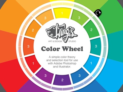 Wing S Color Wheel A Design Tool For Photoshop And Illustrator By
