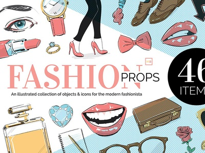 Illustrated Fashion Props by wingsart.net