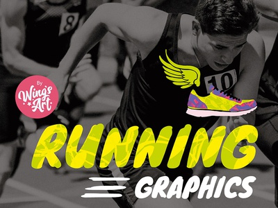 The Running Graphics and Logos Pack by Wing's Art
