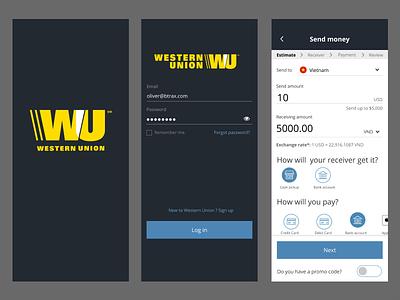 Imrove UI for Western Union