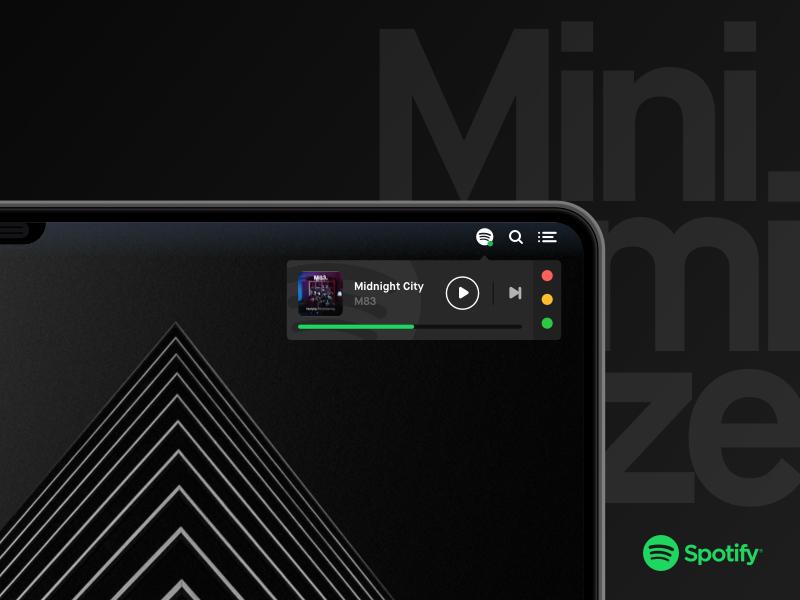 Minimize spotify