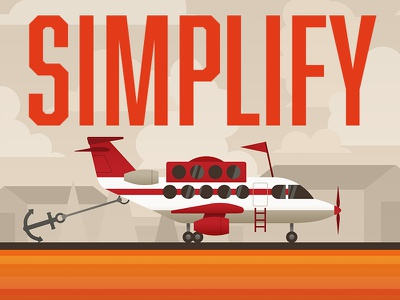 Keys to Effective Branding: Simplify (1/2) clutter orange anchor airplane