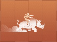 Explorer with Rhinoceros