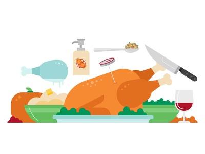 Food Safety Tips for Thanksgiving mashed potatoes stuffing pumpkin wine turkey