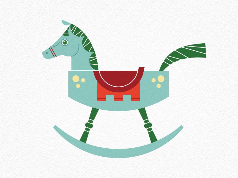 Vintage Toys—Rocking Horse holiday saddle rock horse toy