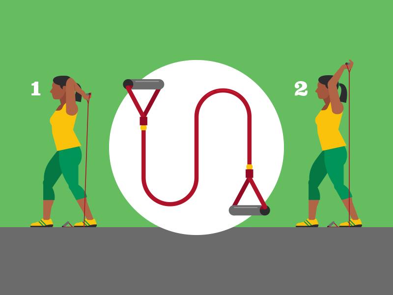 Resistance Band Workout vectorart workout exercise saxton horne utah