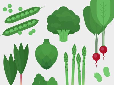 Springtime Vegetables