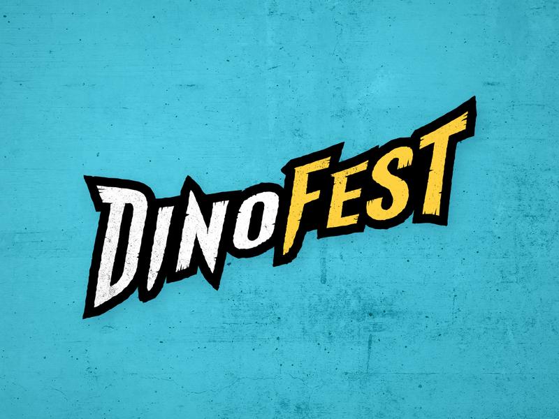 DinoFest dinosaur texture typography