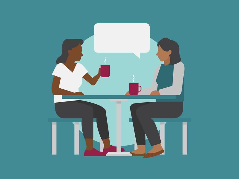 Talking Over Coffee utah university of utah table mugs tea coffee talking women health vector