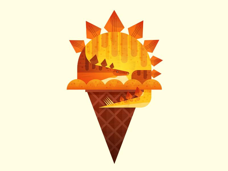 Dino Cone food summer sun stegosaurus dinosaur ice cream