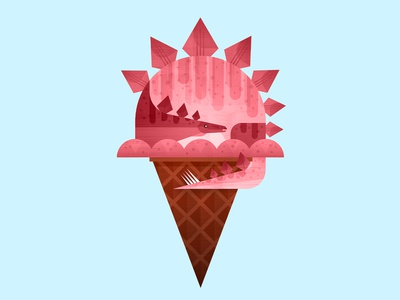 Dino Cone—Pink