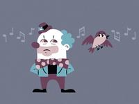 Clown and Mocking Bird