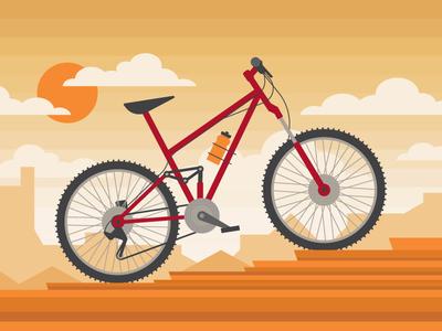 Mountain Bike desert bike bicycle vector health university of utah utah saxton horne