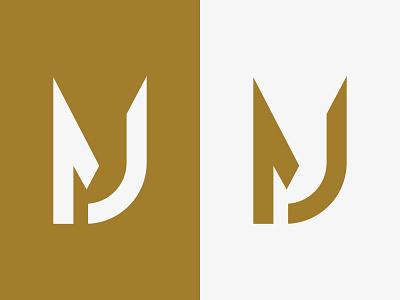 MJ Monogram / Logo Design design j m mj icon branding logo logotype monogram mark flat minimalist unique creative vector identity illustration logo designer brand design logo design