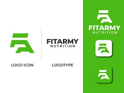 Fitarmy green logo army logo logo branding logotype mark letter mark fa logo fa identity illustration icon vector design logo maker logo designer flat logo minimal logo minimalist logo creative logo