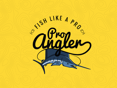 Pro Angler Logo logo angler pro fish