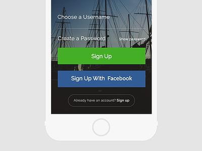 Pro Agnler Login Screen iphone login signup facebook fishing florida