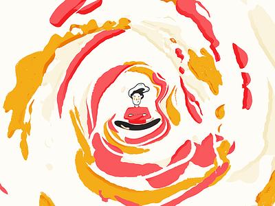 Empowerment poster 2d 3d empowerment meditation character yellow minimal red illustration cinema 4d c4d ipad procreate