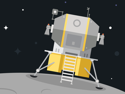 Moon Lander space moon stars