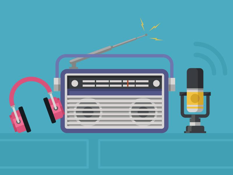 Upcoming initiative stereo microphone headphone radio