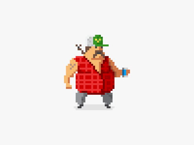 Little Redneck pixel art illustration game