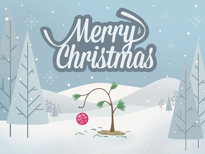 Merry Christmas Charlie Brown illustration christmas winter