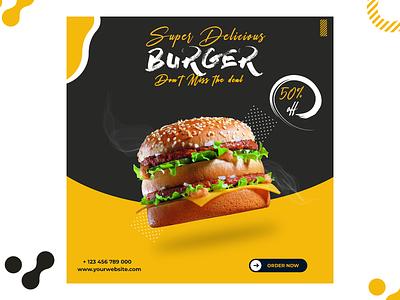 Social Media Food Banner Design best social media designs social media design burger banner design foodbanner design facebook ads banner ads design banner ad social media design branding