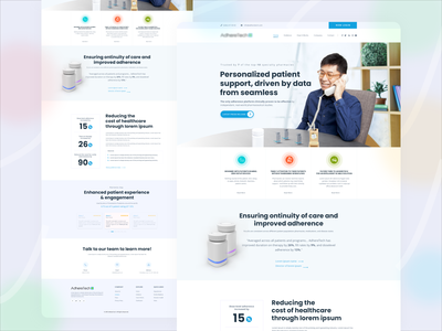 The Patient Support Landing Page Design Concept concept clean minimal modern mobile vector illustration animation app abstract app design design website webdesign web ui design web design ux uiux uidesign ui