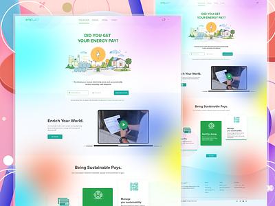 Energy Sales Landing Page! xd xd design character creative concept color clean mobile minimal modern design website webdesign web ui design web design ux uiux uidesign ui