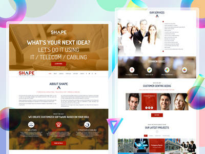 Sass Landing Page Design Concept app design abstract mobile minimal modern character color creative concept clean website design webdesign web ui design web design ux uiux ui uidesign
