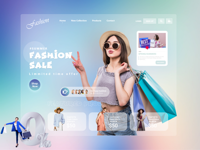 Fashion  Landing Page ! characterdesign shopping women modling modeling clothes shopify ecommerce fashion landing page fashion design fashion website design webdesign web ui design web design ux uiux uidesign ui