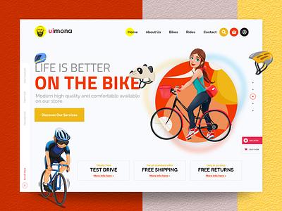 Bike Landing Page creative concept minimal modern themeforest theme bicycle bike bikers biker website design webdesign web ui design web design ux uiux uidesign ui