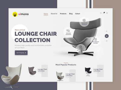 Furniture Landing Page! corporate clean clean furniture studio mona stylish furniture home furniture furniture chair logo illustration design web ui design web design ux uiux uidesign ui