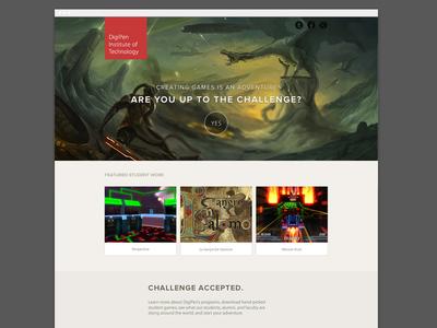 Campaign Landing page landing page campaign cta dragon videogame game