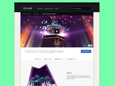 Arcade Feature Game video game videogame gallery entry web