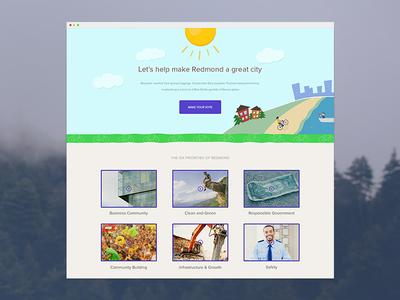 Redmond Poll Update web grid hero web design