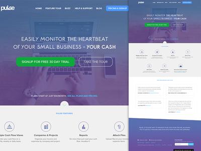 Pulse App Redesign app web homepage web design