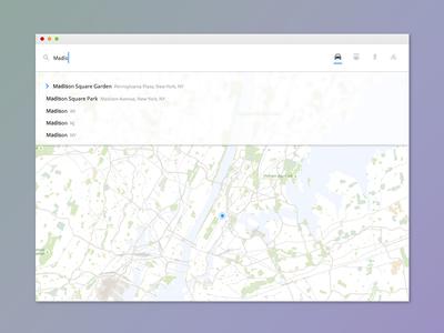 Simple Navigation Widget Rebound autocomplete map navigation widget ui