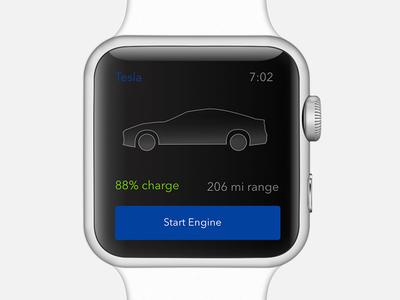 Tesla Start Engine Rebound - Day 46 mobile start engine car watch apple